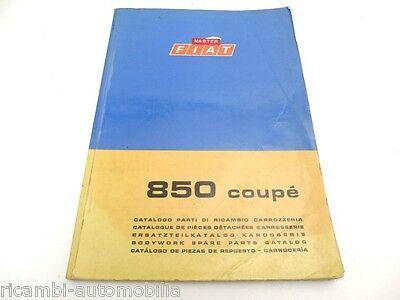 Fiat 850 Coupe Series I 1965-1968 FACTORY BODYWORK PARTS MANUAL