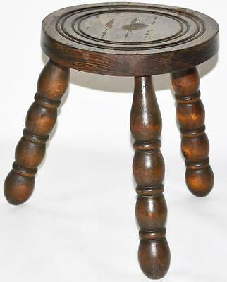 Antique Welsh Ash & Elm Farmhouse Stool - FREE Shipping [PL2776]