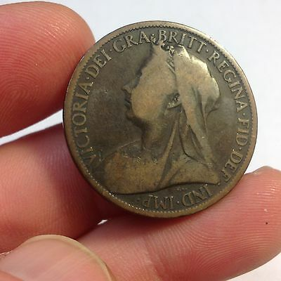 1901 Great Britain Large Penny, Large Cent UK, British, KM# 790 PENNY