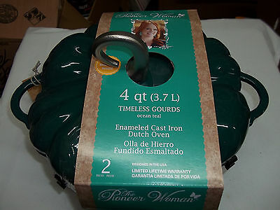 The Pioneer Woman 4 QT Enameled Cast Iron Dutch Oven Timeless Gourds - PUMPKIN