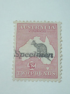Australia £2 Two Pounds Specimen Postage Stamp Sg.16 Very Light Mounted Mint