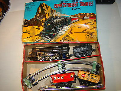 Vintage Shell Express Freight Train Set - Made In Japan