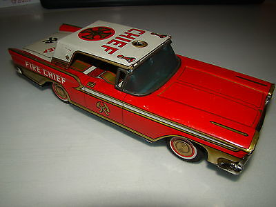 Vintage Ford Fire Chief - Toymaster -  Made In Japan