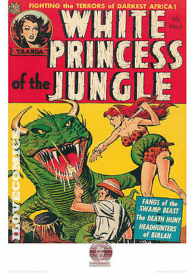 Comic Cover Kunstdruck - White Princess of the Jungle # 4   P-5   50ger Jahre