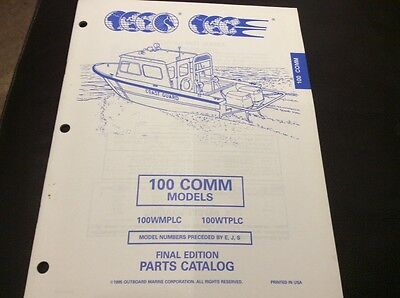 Evinrude Johnson outboards 1995 Parts book - 100 HP comm models