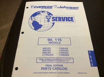 Evinrude Johnson outboards 1995 parts book - 90, 115 HP models