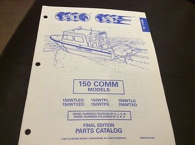 Evinrude Johnson outboards 1995 parts book - 150 Comm models