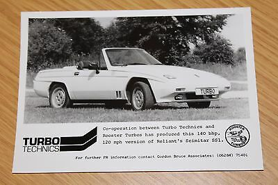Reliant Scimitar SS1 Turbo Technics & Rooster Turbos Press Photograph