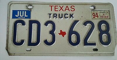 1994 Texas Truck expired license plate tag ( CD3 628 )