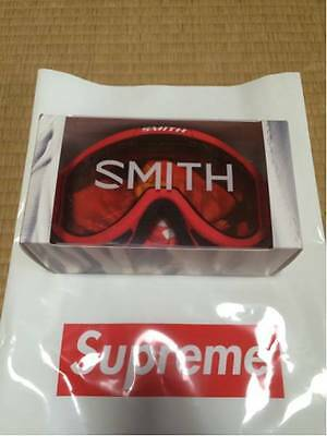 NEW!! 2015 A/W Supreme/Smith Cariboo OTG Ski Goggle RED,Large fit,From Japan,F/S