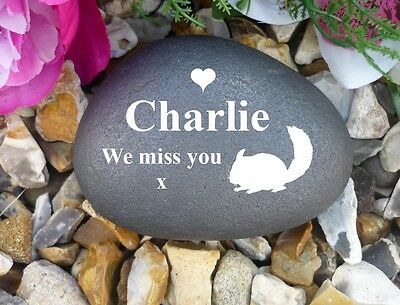 Pebble (Stone Effect) - Personalised - Weatherproof - Memorial - Chinchilla
