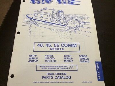 Evinrude Johnson outboards 1995 parts book - 40, 45, 55 Comm models