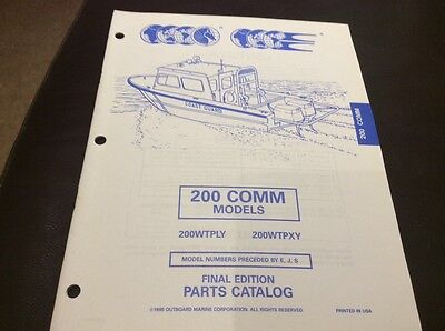 Evinrude Johnson outboards 1995 parts book - 200 Comm models