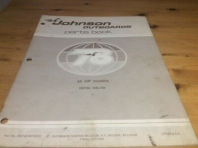 Johnson outboards 1978 parts book - 55 HP models