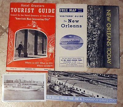 New Orleans Vintage travel brochures, Post Cards, circa 1940's