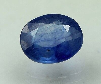 2.47 Cts. Certified Natural Blue Sapphire / Neelam Oval Loose Gemstone