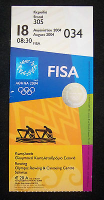 Orig.Ticket  Olympic Games ATHEN 2004  -  ROWING  18.08.2004  !!  RARE