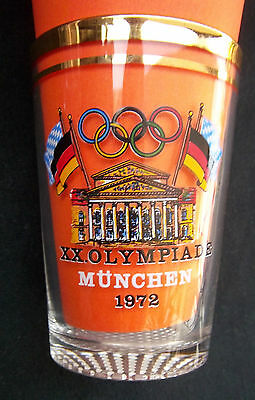 Orig.glass    Olympic Games MÜNCHEN 1972  -  Special Edt./ 10 cm  !!   VERY RARE