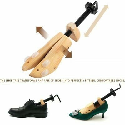 2X MEN Pine Wood Boot Shoe Tree Stretcher Wooden Shaper Bunion Width Size 6-12