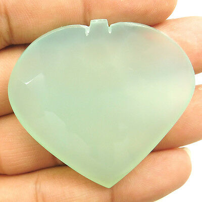108.90 cts Natural Treated Aqua Chalcedony Heart Shape Loose Faceted Gemstone