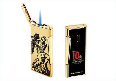 Prometheus God Of Fire Retro Torch Cigar Lighter Gold Limited Edition Very Slim