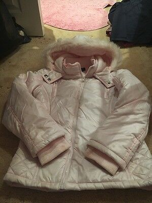 Girls Pink Coat From Next Age 11-12