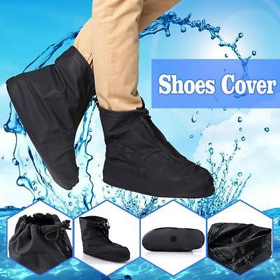 Men Reusable Rain Shoe Covers Flat Waterproof Overshoes Anti-slip Rain Boot Gear