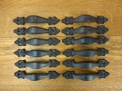 "12 Brown 7"" Victorian Drawer Door Cabinet Pulls Handles Antique-Style Cast Iron"