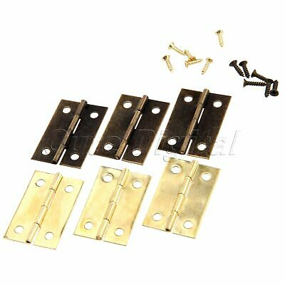 Metal Cabinet Drawer Door Butt Hinge with Screws Music Wooden Box Jewelry Chests