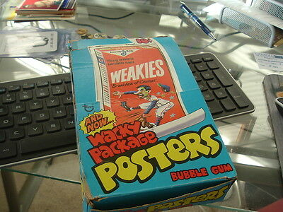 1974 Topps Gum Co Wacky Packages Weakies Poster Display Box  RARE!