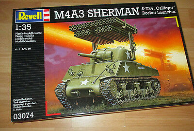 Panzer M4A3 Sherman 6 & T34 Calliope, Revell 03074 Bausatz Kit in 1:35