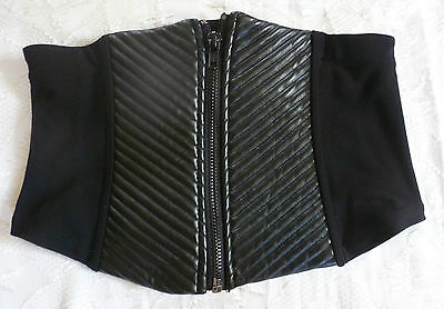 Lip Service STRICTLY CONFIDENTIAL ZIP FRONT CINCHER schwarz gothic fetisch XL