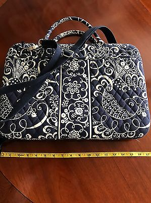 "VERA BRADLEY 17"" Laptop Computer Hard Shell Portfolio Case TWIRLY BIRDS NAVY bag"