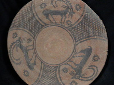 Ancient Large Size Teracota Painted Pot With Animals Indus Valley 2500 BC #15537