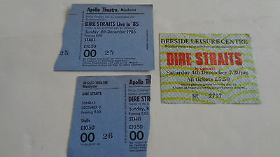 Dire Straits Three 1980S Uk Concert Ticket Stubs Manchester And Deeside