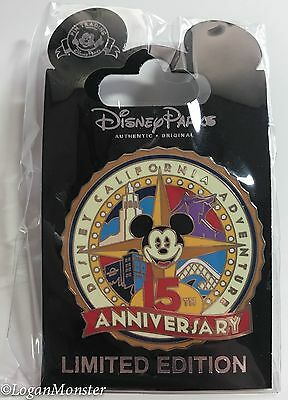Disney California Adventure 15th Anniversary Cast Member Mickey Mouse Pin