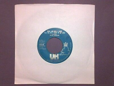 """Kevin Johnson - Rock And Roll (I Gave You The Best Years...) [7""""] j/box UKR 84"""