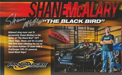 2016 Shane McAlary signed ProCharger '77 Chevy Vega Street Outlaws postcard