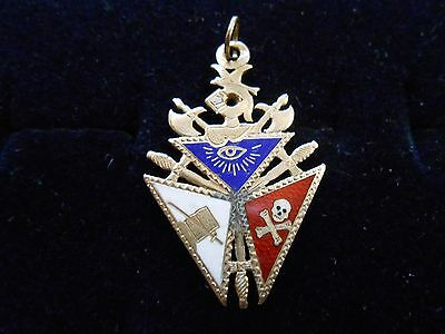 Independant Order Of Odd Fellows  Pendant Or Watch Fob Yellow Gold (1920)