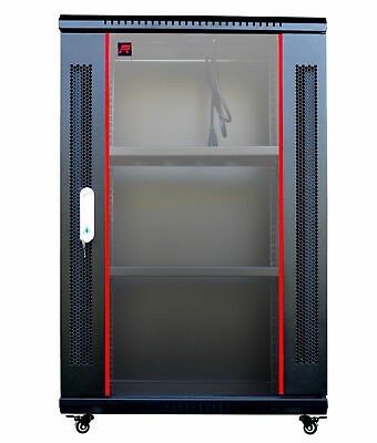 18U Wall Mount Network IT Server Cabinet Enclosure Rack HQ FULLY Equipped !!