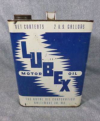Lubex 2 Gallon Oil Can - Royal Oil Corp - Baltimore, MD