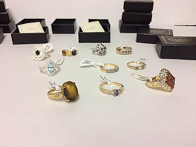 Job Lot of 10 X GIANI Ladies Rings all  SIZE P Total Rrp £150+ Gift Set New