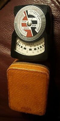 Vintage De Jur  DeJur Amsco Exposure Light Meter with Leather Case