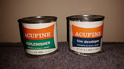 NOS ACUFINE FILM DEVELOPER 2.1 oz.& REPLENISHER 2.2 oz to make 1 QUART