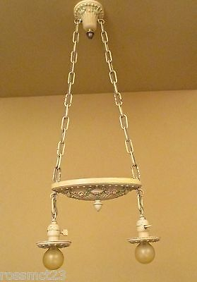 Vintage Lighting antique 1920s bedroom set. One ceiling fixture. Two sconces