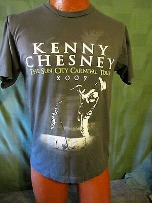 2009 Kenny Chesney The Sun City Carnival Tour T-Shirt Sz M Gray Country