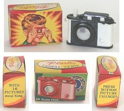 Vintage Original Hong Kong MOVIE STARS CAMERA Viewer Dime Store Toy in Box 1950s