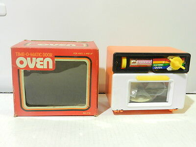 Vintage Wind Up Toy Kitchen Cooking Time-O- Matic Door Mib 1980's