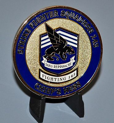 USN Navy VFA-143 Strike Fighter Squadron Pukin' Dogs CPO Challenge Coin