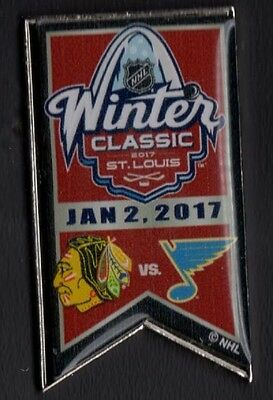 2017 Winter Classic Pin Chicago Blackhawks St. Louis Blues Dueling Puck Style